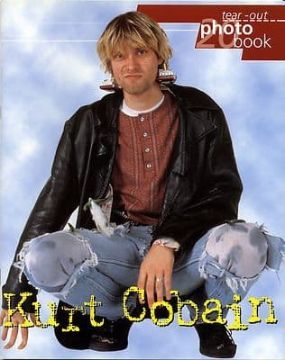 NIRVANA Kurt Cobain Tear out Photo Book 1998 Oliver Books 20 posters 23x29cm