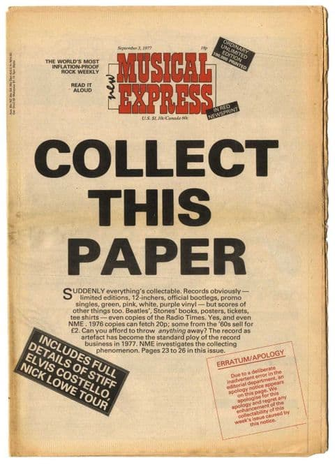 NME Magazine 3 September 1977 The Clash Jonathan Richman Reading Rock Festival