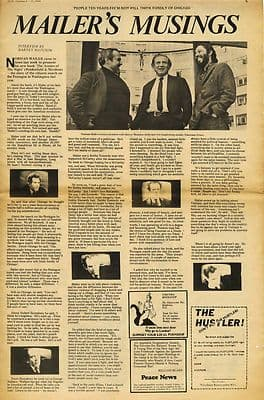 NORMAN MAILER Interview by Harvey Matusow Press article/cutting/clipping 1968