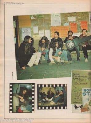 NORTH STAR A walk on the B Side Press Interview original Vintage Music Press article 1976