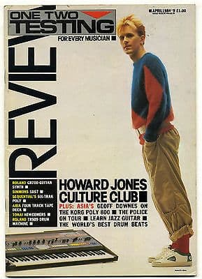 One Two Testing Magazine April 1984 Billy Bragg Howard Jones Culture Club Lieber and Stoller