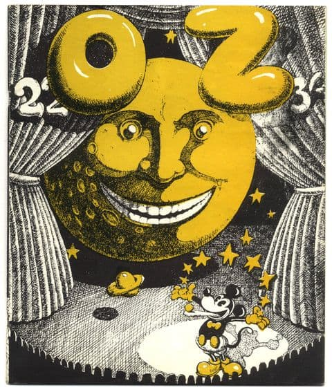 OZ Magazine No 22 July 1969 Martin Sharp Mickey Mouse/smiling moon cover
