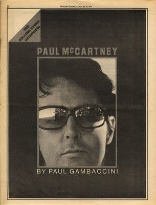 Paul McCartney 7 Page Interview press article/cutting/clipping 1974