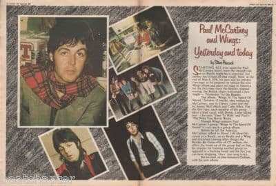 Paul McCartney Wings 5 page original Vintage Music Press article 1976 Yesterday & Today