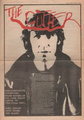 Pink Floyd The Cutter Roger Waters 3 page Interview original Vintage Music Press article 1983