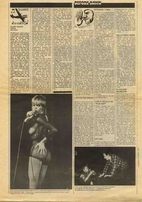 PLASTIC IMAGES CRACK live review UK press article cutting/clipping 1980