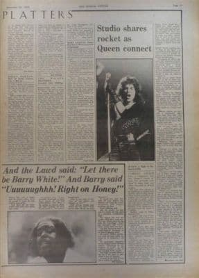 Queen A Night at the Opera LP review original Vintage Music Press article 1975
