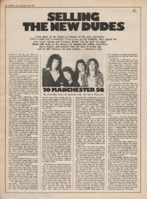 Queen Selling new dudes 1976 UK press original Vintage Music Press article/Clipping