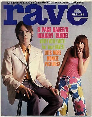 Rave Magazine April 1967 Marianne Faithfull Mick Jagger Small Faces Donovan The Move