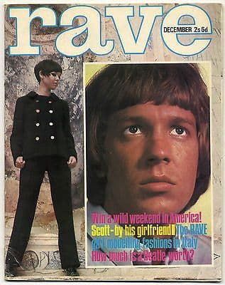 Rave Magazine December 1966 Beatles Keith Moon Who Steve Marriott Stones Scott Walker
