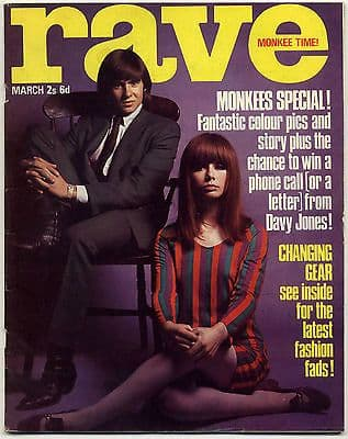 Rave Magazine March 1967 Scott Walker Monkees Cat Stevens Troggs The Move Fashion