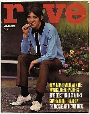 Rave Magazine November 1966 Lennon Small Faces Steve Marriott Sonny & Cher Mike d'Abo