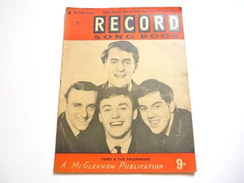 Record Song Book Magazine 1-1-1965 No 15 ? Gerry & the Pacemakers on cover