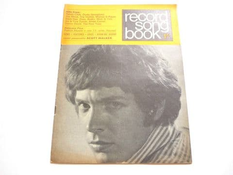 Record Song Book Magazine 1-11-1967 Scott Walker on Cover Diana Rigg on rear.
