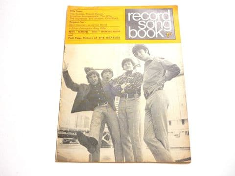 Record Song Book Magazine 1-7-1967 Monkees on Cover Beatles on rear.