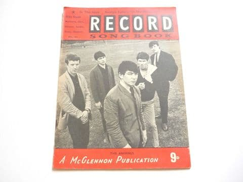 Record Song Book Magazine 1-9-1965 No 23 ? The Animals on cover