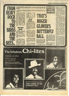 ROGER GLOVER Interview MUD Ray Styles Vintage Music Press article/clipping 1974