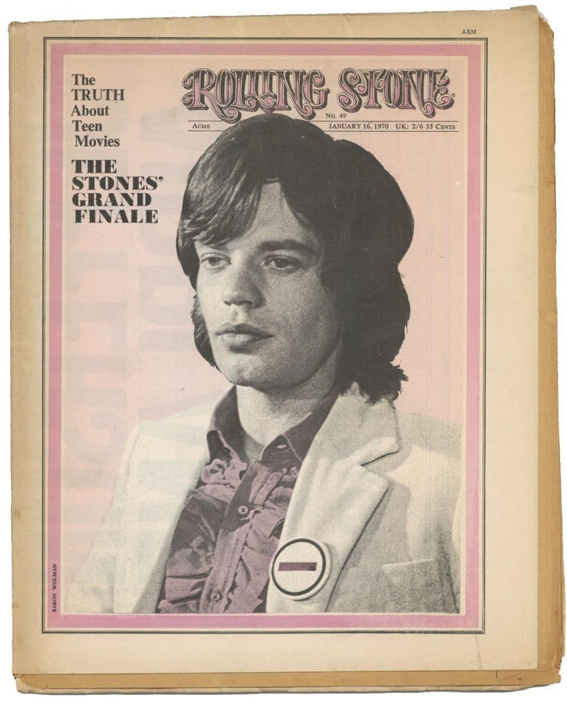 Rolling Stone Magazine No 49, 16 January 1970 Rolling Stones CSNY Impressions/Curtis Mayfield