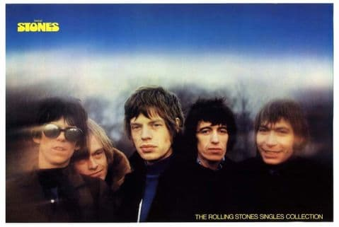 Rolling Stones Rare vintage 1980 In store/shop promotional poster 50x76cm