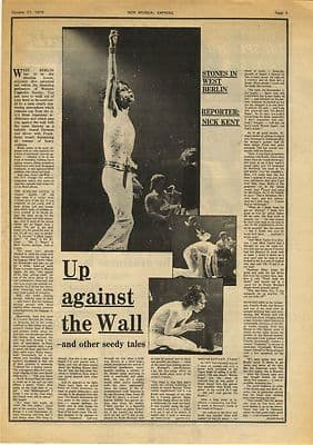 Rolling Stones West Berlin 2 page press article/cutting/clipping 1973