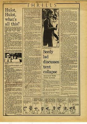 RONNIE LANE Interview Music Press article/cutting/clipping 1975