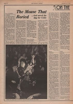 Rory Gallagher Mouse that Roried original Vintage Music Press article 1975