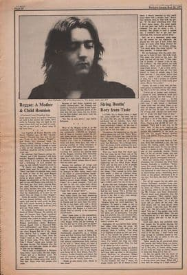 Rory Gallagher String bustin' Rory from Taste original Vintage Music Press article 1972