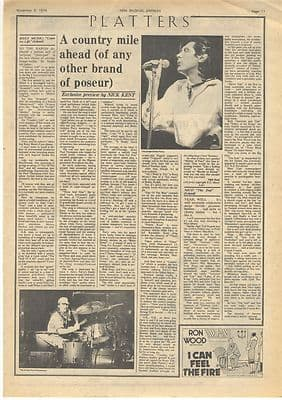 Roxy Music NICO LP reviews Vintage Music Press article/cutting/clipping 1974
