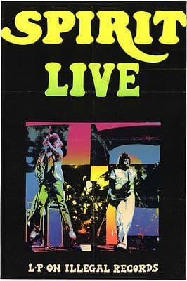 SPIRIT Live Illegal Records Rare Screen Printed Poster 1978 Size 73X48cm
