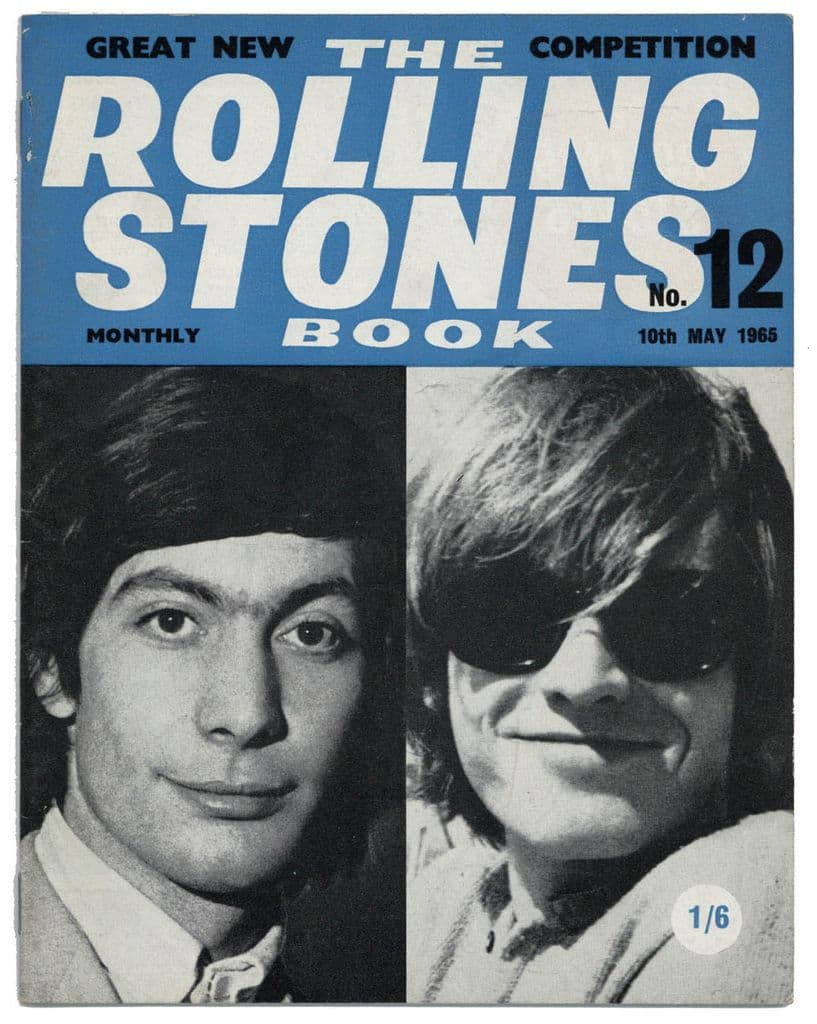 The Rolling Stones Book Issue No 12, 10th May 1965 Monthly Magazine Brian Jones Charlie Watts cover