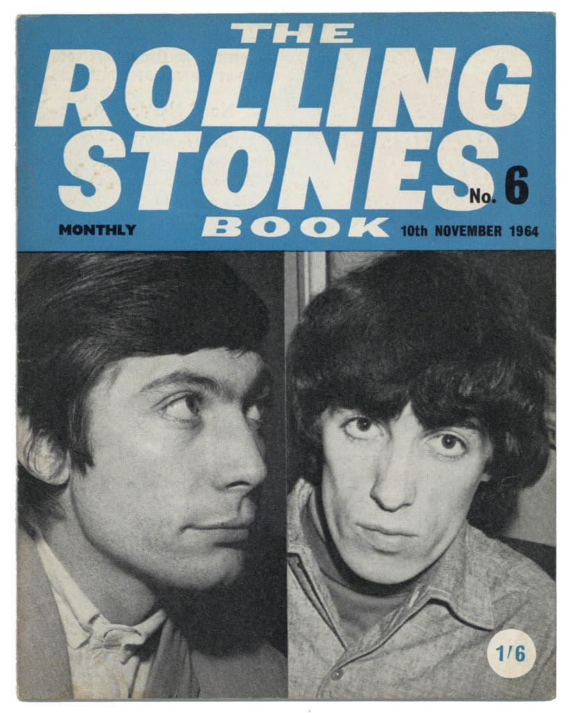 The Rolling Stones Book Issue No 6, 10th November 1964 Monthly Magazine Charlie Watts Bill Wyman