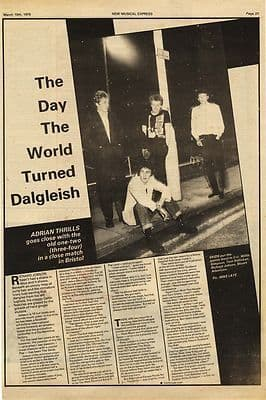 The Skids 1 page interview press article/cutting/clipping 1979