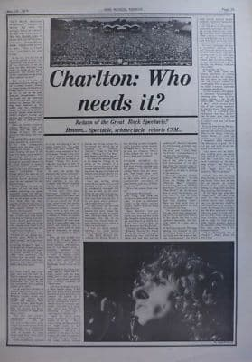 The Who Charlton: Who needs it original Vintage Music Press article 1974