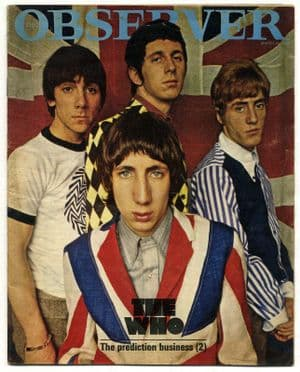 The Who Observer Magazine 22 March 1966 Complete 1 Day UK Magazine with 8pp article on the band