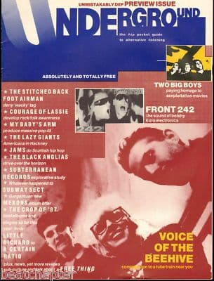 Underground Magazine No 0 Front 242 Mekons Subway Sect J.A.M.S