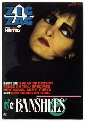 Zigzag Magazine June 1984 Siouxsie & the Banshees New Order New Model Army Tones on Tail