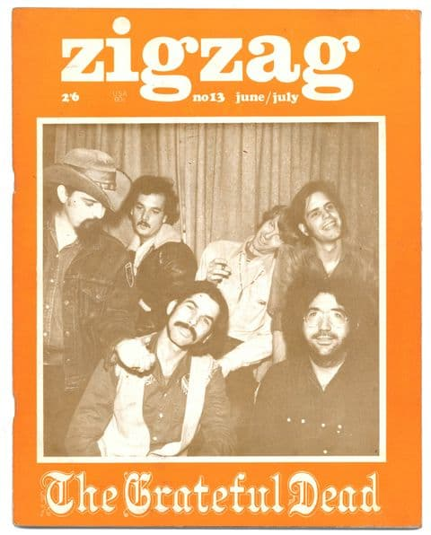 Zigzag Magazine No 13 June/July 1970 Grateful Dead Kevin Ayers Ian Anderson It's A Beautiful Day