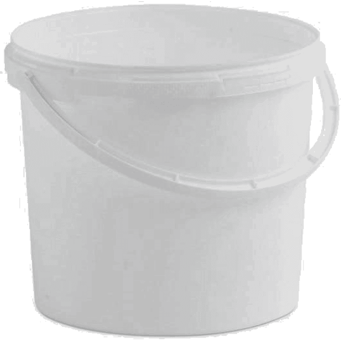 5 Litre Plastic Buckets with Handles and Tamper Evident Lids