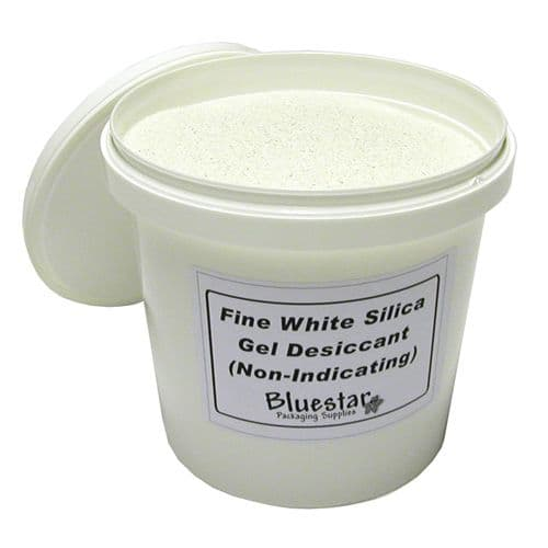 Fine White Silica gel - Silica Desiccant Ideal for Flower Drying