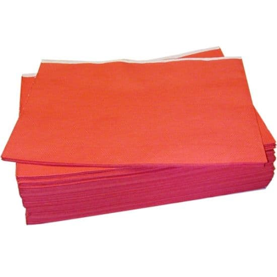 Red Disposable Paper Table Cloth Covers  90cm x 90cm