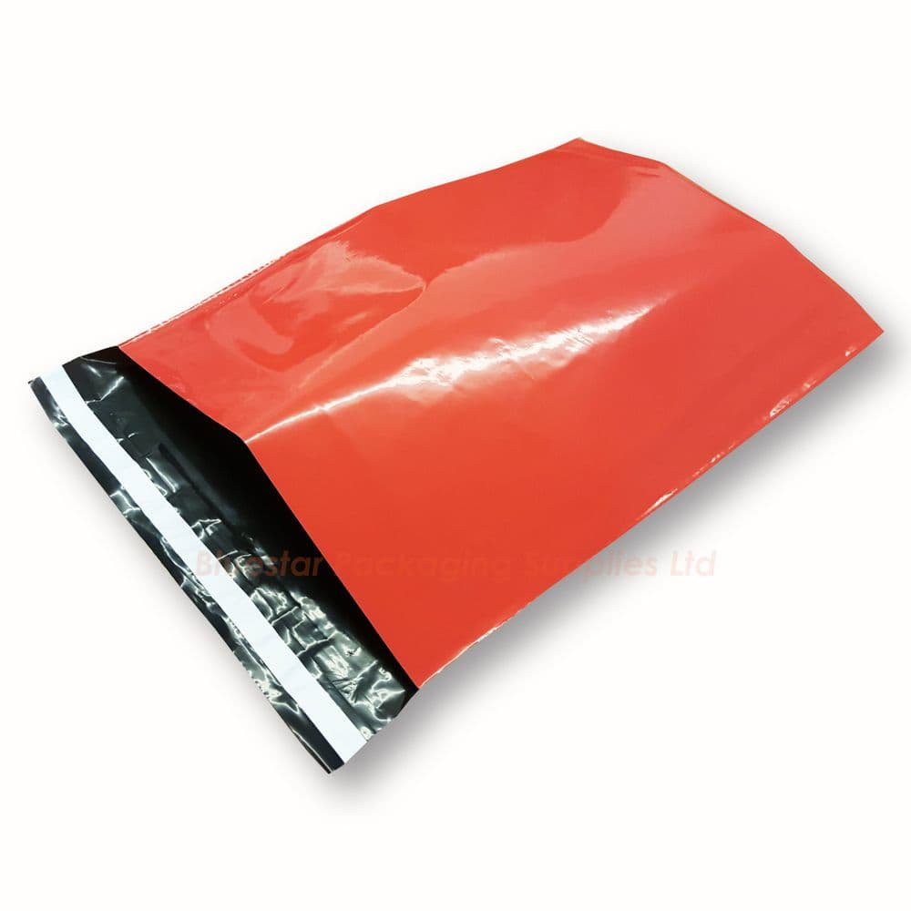 """Red Mailing Bags 12"""" x 16"""" (305mm x 405mm) - Pack of 100"""