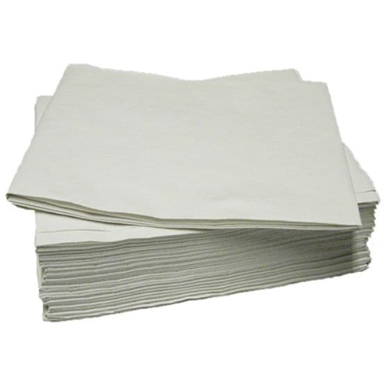 White Disposable Paper Table Cloth Covers  90cm x 90cm