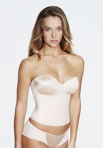 Seamless Low back Longline Bra (Nude)