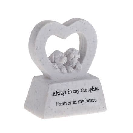 Always In My Thoughts Dog Memorial Plaque