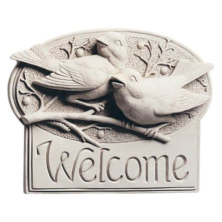 Carruth Welcome Berry Birds House Plaque