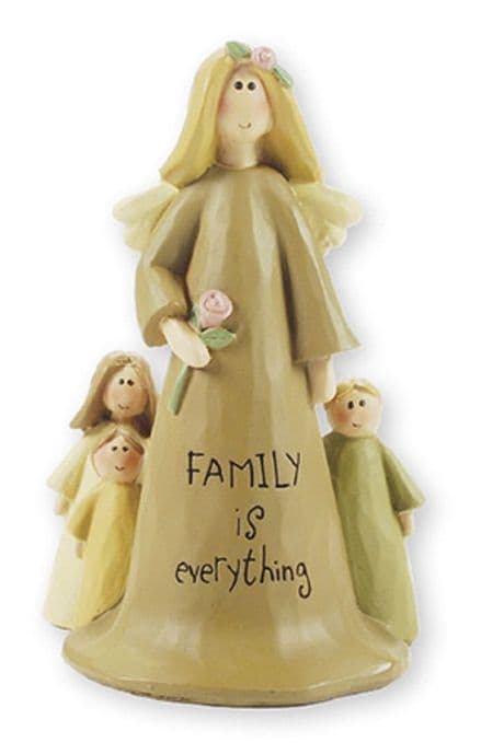 Family Is Everything Angel Figure