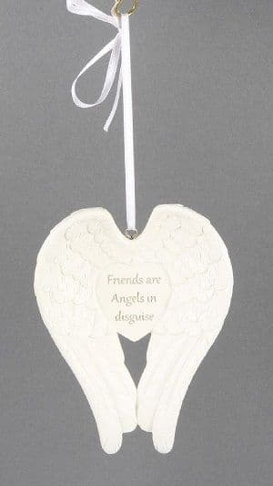 FRIENDS ARE ANGELS Angel Wings Plaque