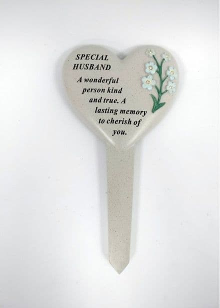 Husband Forget Me Not Grave Stake