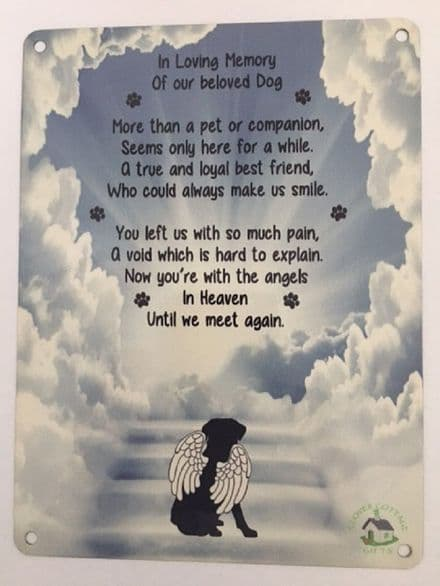 In Loving Memory of our beloved Dog