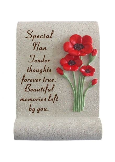 Nan Poppy Memorial Scroll